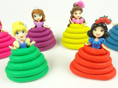 DIY How To Make Play Doh Disney Princess Dresses Creative for Kids