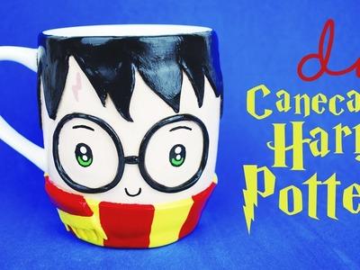 DIY KAWAII: Caneca HP. HP Mug (Polymer Clay)! Por Isabelle Verona #potterweek