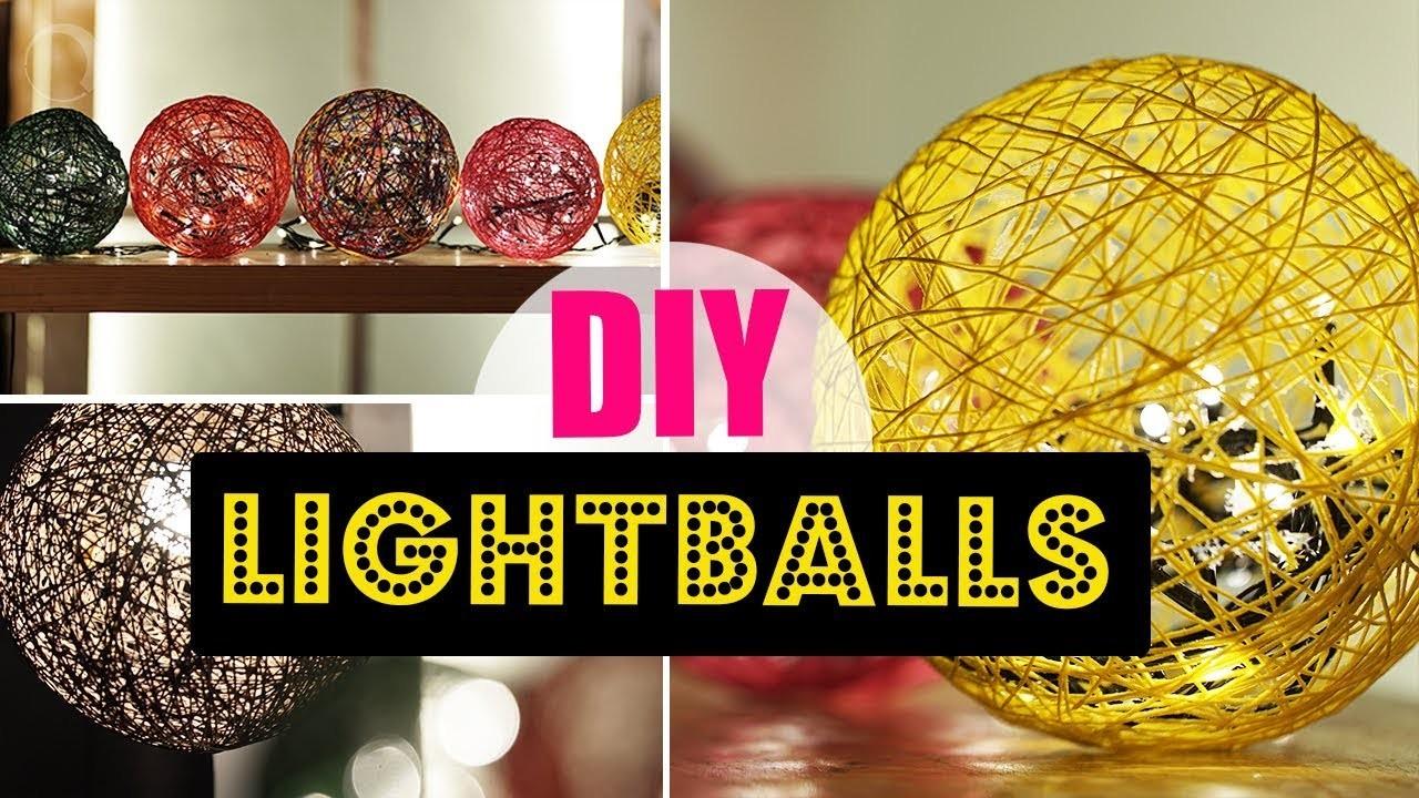 Diy Light Ball Home Decor Tutorial My Crafts And Diy