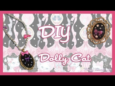 DIY necklace and ring to match Angelic Pretty Dolly Cat