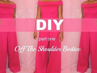 DIY Off the Shoulder Jumpsuit Part ONE - The Bodice l Ty Kent