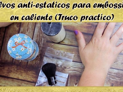 DIY polvos anti-estaticos | para embossing en caliente