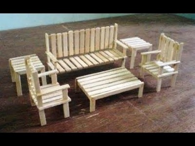 Diy popsicle stick table and chair in hindi