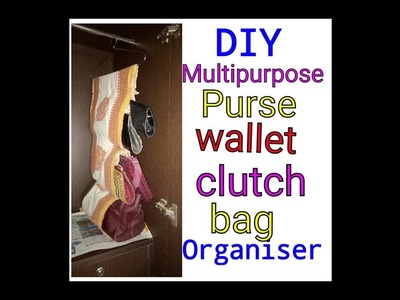 DIY Purse. Wallet. Bag. Multipurpose  Organizer at home  with old bedsheet