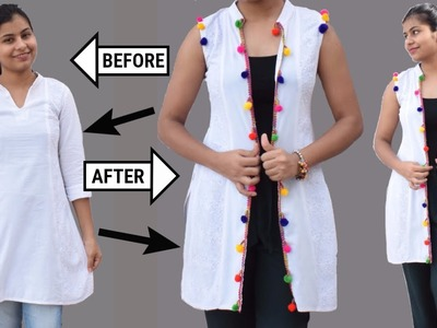 DIY : Recycle Old Kurti Into Shrug In Just 5 Minutes