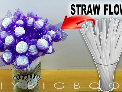 Diy room decor for small rooms girls, How to make Rose flower from straws