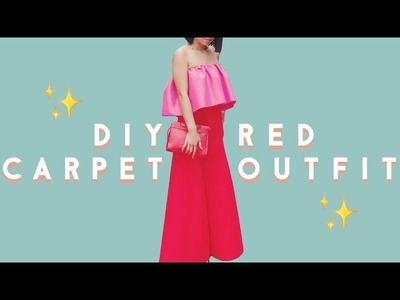 ✂ DIY Ruffle Top & Turn a Skirt into Pants - How I Made my Red Carpet Outfit