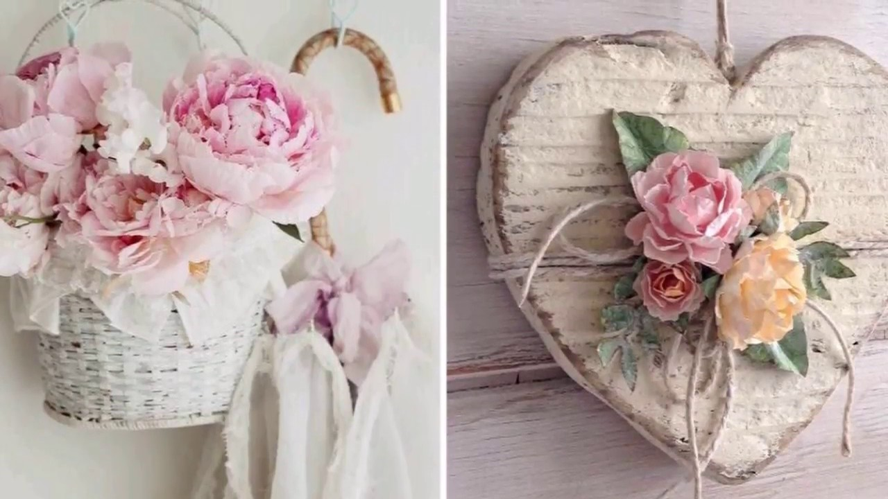 diy shabby chic style flower decor ideas 2017 my crafts and diy projects. Black Bedroom Furniture Sets. Home Design Ideas
