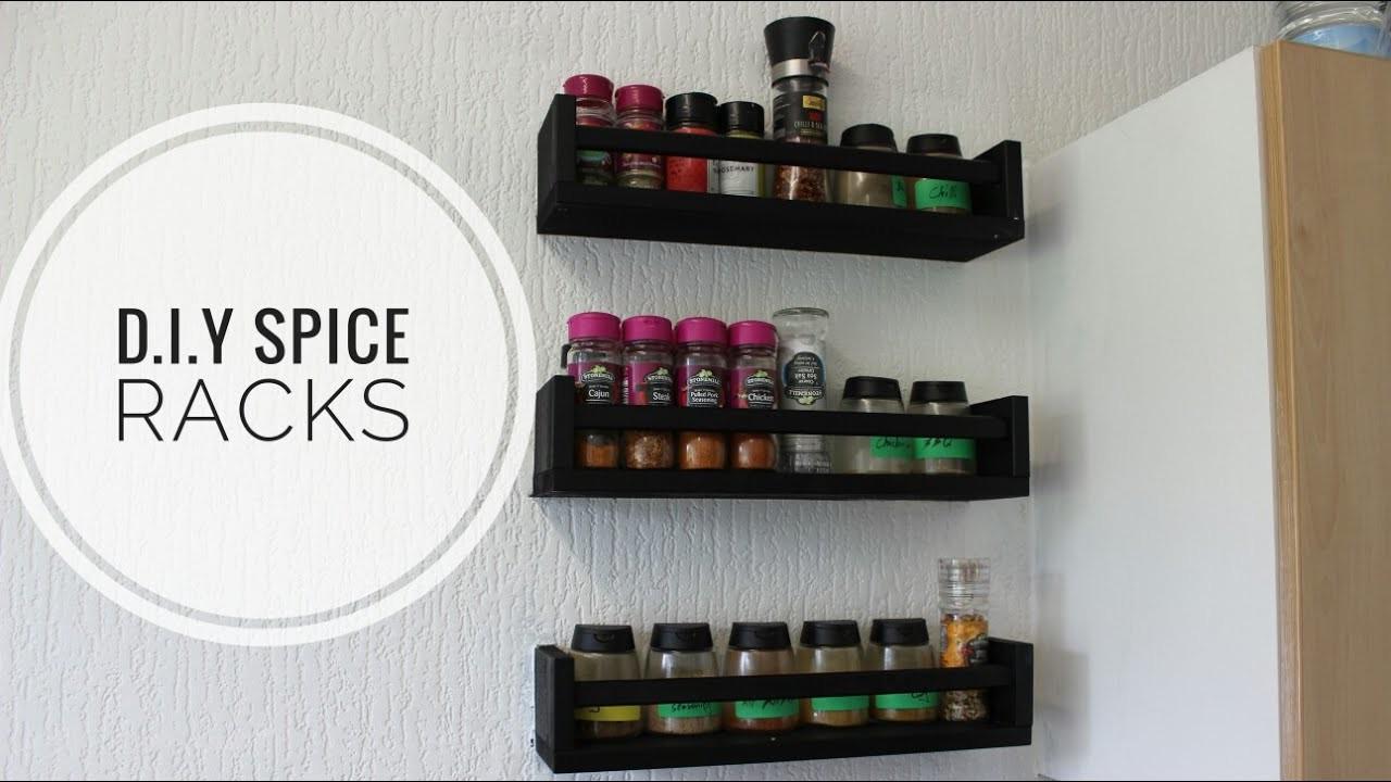 Diy Spice Rack Shelf