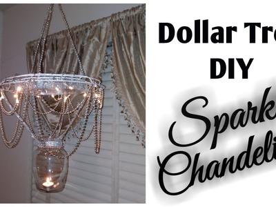 Dollar Tree DIY - Sparkled. Bling Chandelier