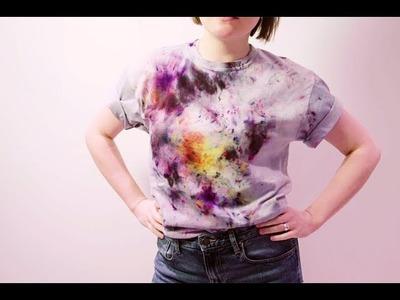 Easy splatter print T-shirt tutorial