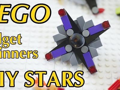 Fidget Spinner LEGO Stars - How to make 5 DIY LEGO fidget toys