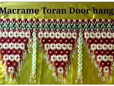 Full making tutorial of Handmade Macrame Toran.Door hanging| Design#5|Easy Toran Making