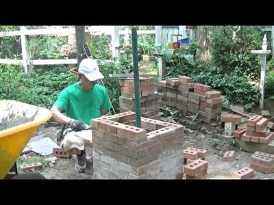 How to build a brick columns- DIY