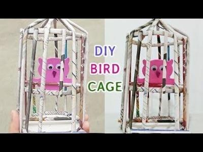 How to make Bird Cage | DIY Newspaper Crafts ideas