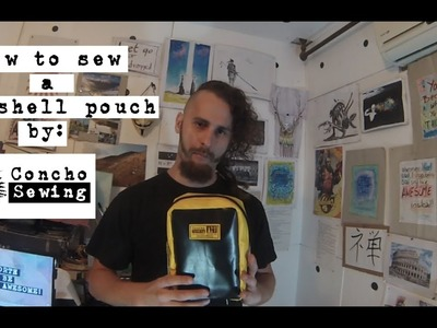 How to sew a Clamshell pouch (DIY)