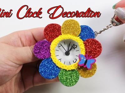 Mini Clock Rainbow Decor   DIY Sparkly Decoration For Girls