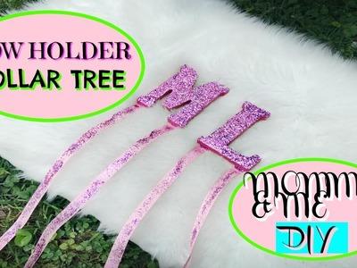 Mommy & Me DIY DOLLAR TREE Hair Bow Holder