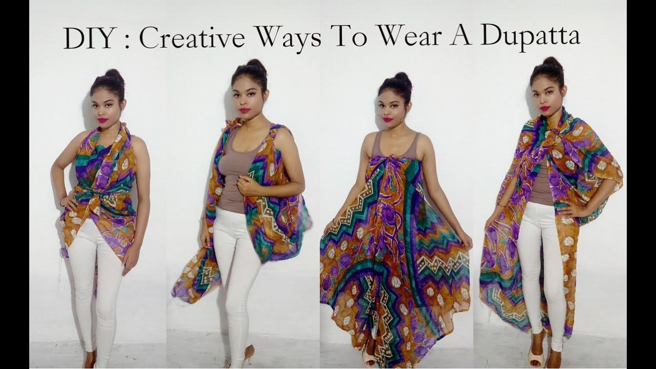 No Sew DIY : 6 Creative Ways To Wear A Dupatta. Scarf