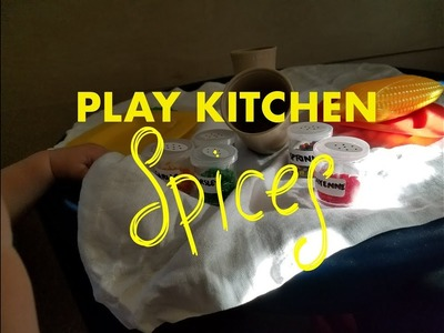 Play Kitchen Spices   DIY Children's Toy   Dollar Tree Shop With Me