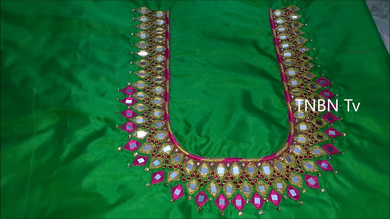 Simple Maggam Work Blouse Designs Embroidery Tutorial For