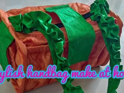Stylish handbag make at home diy in Hindi