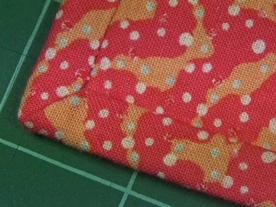 32 Happy Birthday Sampler - Finishing - Casing and Hand Sewing