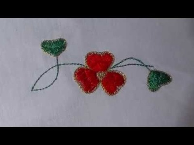 Aari.maggam.tambour hand embroidery. Flower design--4