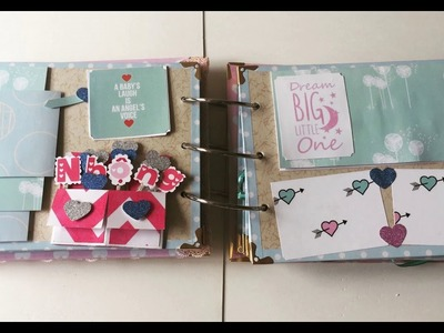 Art and craft ideas - scrapbook for baby girl