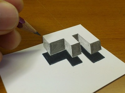 "Artattack- How To Drawing 3D Floating Letter ""F"" (very easy)"