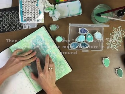 Birgit Koopsen Art Crew- process video #2 - mixed media scrapbooking in art journal