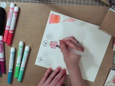 Crayola Marker Watercoloring Tips & Techniques! . Scrapbook Blessings Club