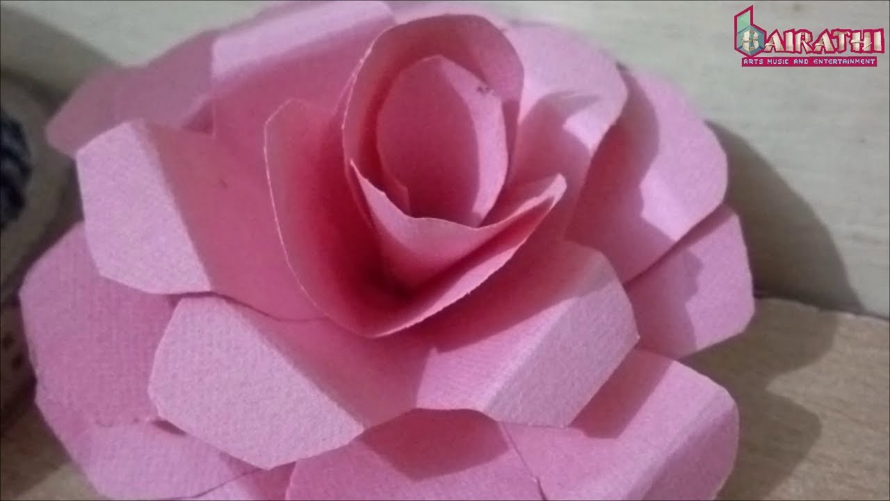how to make an origami rose simple