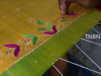 Designer blouse designs | basic embroidery stitches, hand embroidery stitches tutorial for beginners