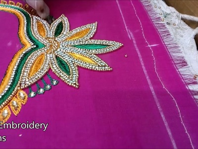 Designer blouse designs   hand embroidery designs,basic embroidery stitches,hand embroidery tutorial