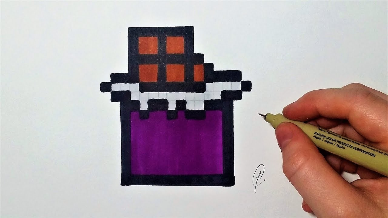 Dessin Tablette De Chocolat Pixel Art Facile