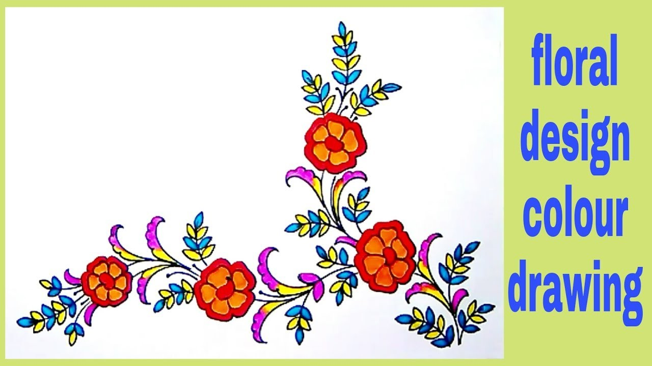Draw Hand Embroidery Flower Designsfor Embroidery Saree Patterns
