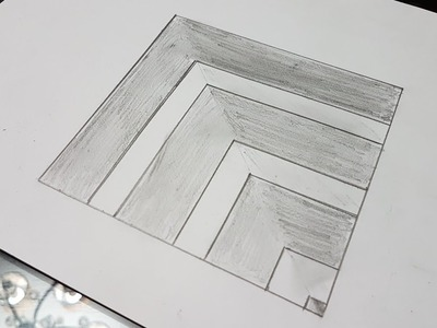 Drawing 3D  ladder art pencil for beginners