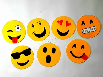 Emoji note book making with paper. how to make emoji type note book for kids. in just 2 minute.