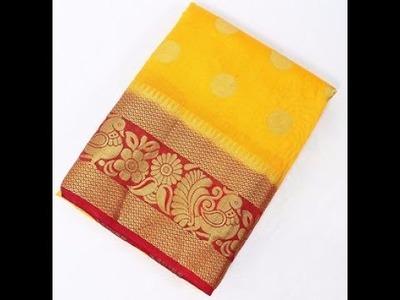 Hand Embroidery Art Silk Sarees Designs || lightweight Soft Silk Embroidery Art border saree Designs