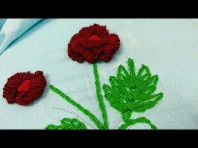 Hand embroidery Beautiful and easy tutorial for leaves and flower