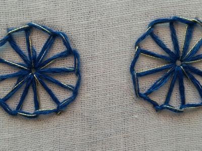 Hand embroidery :- Buttonhole stitch | HMA##027