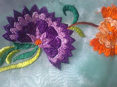 Hand Embroidery Colourful Flowers Stitch