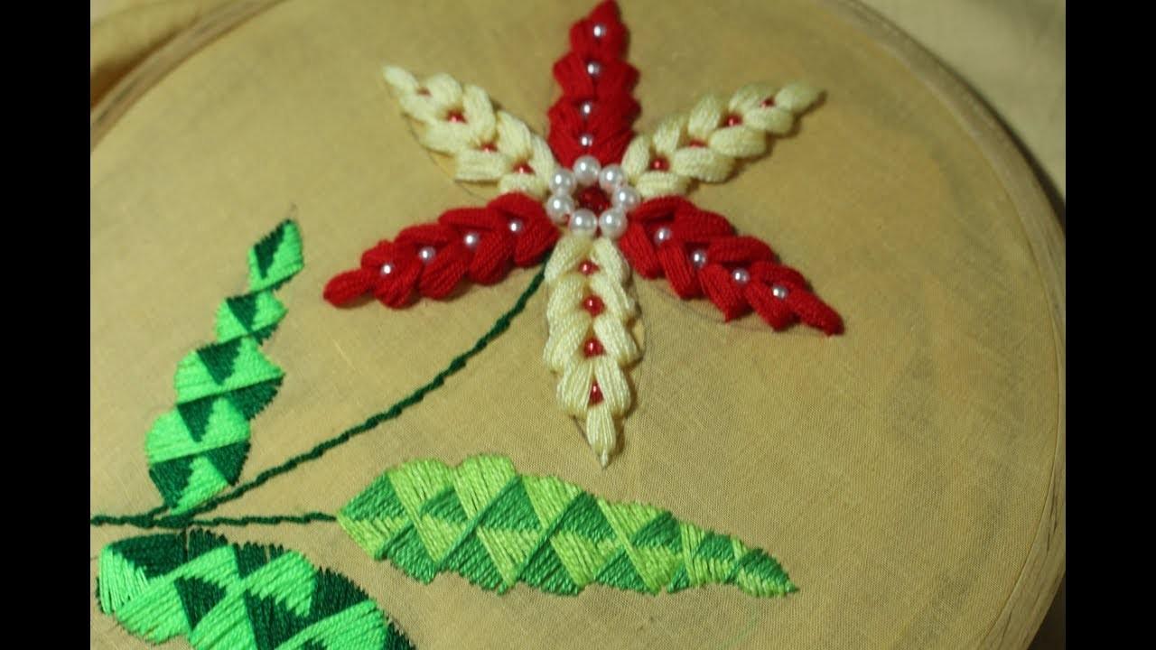 Hand Embroidery designs | Elegant stitch | Stitch and Flower-155