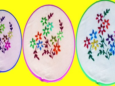 Hand Embroidery Designs - Fantasy Embroidery Designs Stitches & Flowers With Silk Cotton Threads
