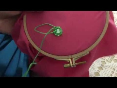 Hand Embroidery easy stitch how to stitch Mirrors