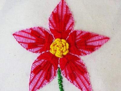 Hand Embroidery: Kadai Kamal Variation