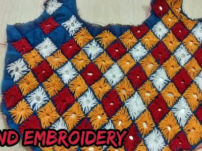 Hand embroidery learn at home in Hindi.how to do hand embroidery on fabric.
