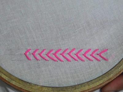 Hand Sewing : Fly Stitch. ফ্লাই স্টিচ