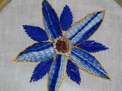 Hand Stitch Design of Raised Stem Stitch
